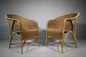 pair of 1920 s dryad wicker garden chairs