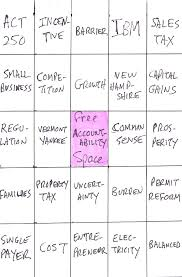 buzzword bingo generator phil scott s business buzzword bingo the vermont political observer