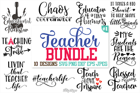 Unzip folder, extract all files and save to device or new folder. Teacher Svg Design Bundle Xquissive Com