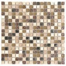 beige brown peach color travertine glass mosaic backsplash tile