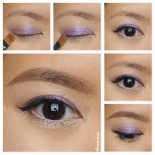lavender glitter party makeup