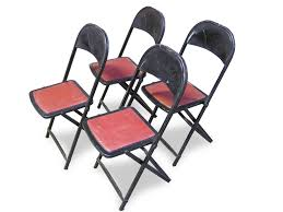 vintage metal folding chairs.  Chairs MIX Vintage Metal U0026 Leather Folding Chairs Throughout
