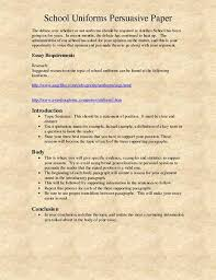 sample persuasive essay on school uniforms speech presentation  school uniforms persuasive essay 1069 words bartleby