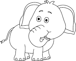 white elephant clip art png. Perfect Art Black And White Elephant Looking Behind In Clip Art Png A