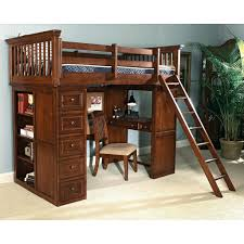 bunk loft bed with desk and full size