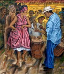 tite y norma painting by renown puerto rican artist samuel lind