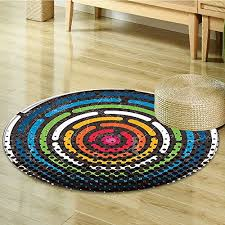 small round rug carpet art spiral circular in grant colors new city urban life night theme