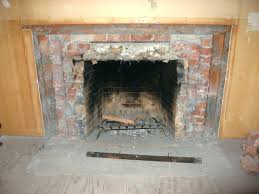 repairing a fireplace replacing fireplace brick panel remove cost mortar repair ed repair brick fireplace hearth