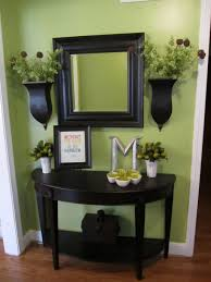 Round Entry Way Table Small Entryway Table Design Ideas Featuring Half Round Black