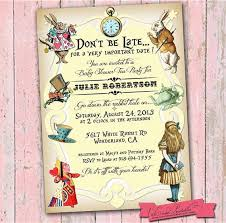 party invitations surprising alice in wonderland