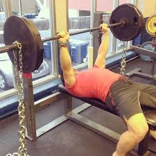 Incline Bench Press With Chains Bench Press With Chains Exercise Chains Bench Press