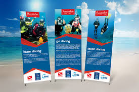 rumble fish padi diving resort kha design studio branding  rumblefish cip mockup rumble stand banner mockup advertising mockup rumblefish lamp post signs
