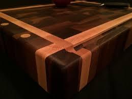 end grain butcher block. Beautiful End Custom Made Black Walnut And Rock Maple End Grain Chopping Block Inside Butcher B