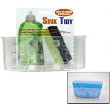 Kitchen Sink Caddy Organizer Sponge Dish Brush Holder Suction Cup