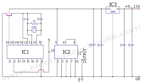 50hz 60hz frequency generator circuit using crystal oscillator 60hz 50hz frequency signal generator circuit diagram using crystal oscillator
