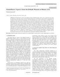 (PDF) Glacial Karst Aspects About the DeKalb Mounds in Illinois, USA