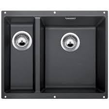 Black Undermount Kitchen Sinks Blanco Subline 340 160u 15 Bowl Black Silgranit Granite