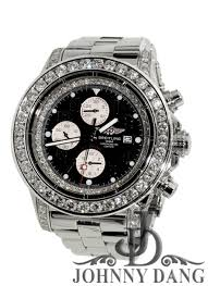 breitling johnny dang co cw 00101 mens breitling diamond watch