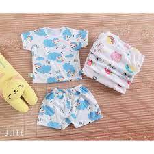 CHẤT ĐẸP - Combo 10 bộ quần áo cho trẻ sơ sinh/ bộ đồ coton sọc giành cho  bé trai/bé gái chính hãng 150,000đ