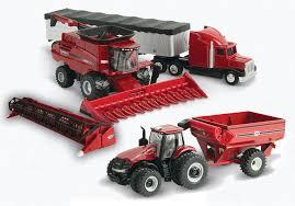 picture of 1 64 case ih harvesting set