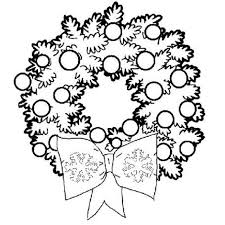Small Picture Wreath Coloring Page Free Coloring Pages For Christmas Children