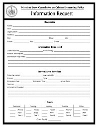 Request For Information Template Information Request Form Msccsp