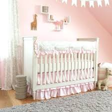 mini crib skirt ivory crib bedding set popular traditional pink and gray crib bedding nursery design mini crib