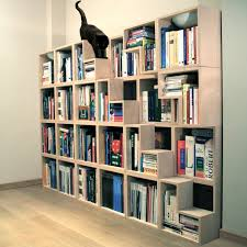 Decorations:Modern White Bookshelf For Classy Office Fits In Minimalist  Room Concept Mounted Bookshelf Design