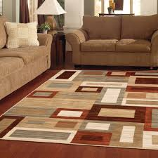 ... Living Room, Living Room Rug With Wooden Floor And Brown Sofa And Lamp  And Cushion ...