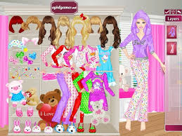 barbie pajama party dress games