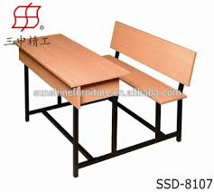 wooden school desk and chair. School Furniture/ Wooden Desk And Bench/ Chair