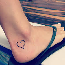 Tattoos Ankle Tattoos For Girls Amazing Small Heart Ankle Tattoo