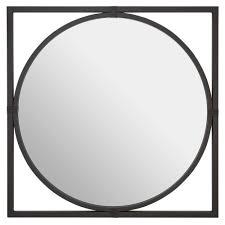 black jair square wall mirror