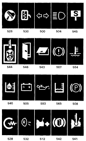volvo service manual section component wiring diagram indicator and warning lights