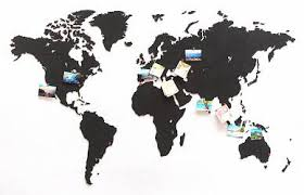 <b>Деревянная карта мира World</b> Map True Puzzle Large, черная ...