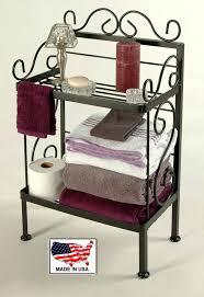 wrought iron bathroom shelf. 18 Inch Wrought Iron Bathroom Storage Rack In Black Finish Shelf Grace