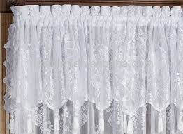 simple design curtains with attached valance strikingly idea carly lace curtain panel polyester