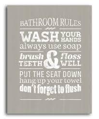 Good Bathroom Canvas Wall Art With Bathroom Rules Wall Art Ideal Canvas For  .