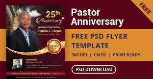 Free Pastor Anniversary Flyer Psd Template Designyep