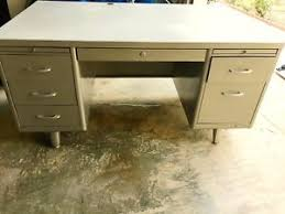 vintage metal office furniture. Beautiful Metal Vintage Mid Century STEELCASE Tanker Industrial Metal Desk To Office Furniture