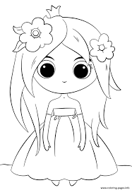 Small Picture Cute Princess Kawaii Coloring Pages Printable