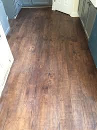 Mohawk Luxury Vinyl Plank Wood Floor in Chocolate Barnwood