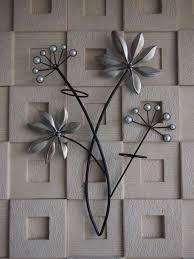 wall art ideas design diamond flower metal wall art decor