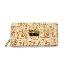 Coach Egyptian Wall Painting Large Khaki Wallets EDS
