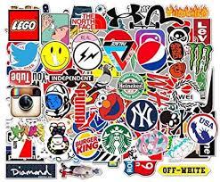 KOWASO <b>100 Pcs Fashion</b> Brand Cool Stickers For Laptop Stickers ...