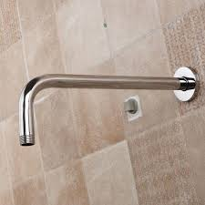 universal wall shower head extension pipe long stainless steel arm bathroom home