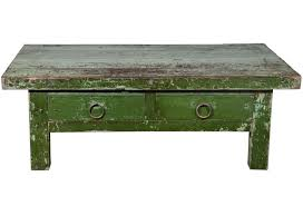 french green coffee table  omero home