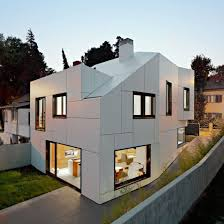 Neat House Designs Modern Family House Boasting An Irregular Geometric Design