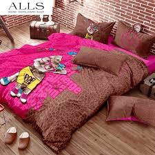 100 cotton animal bedding sets include bulldog panda giraffe sheep puppy dog print bedding 3