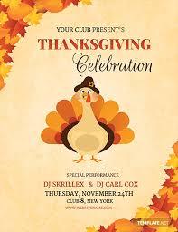 Free Dj Thanksgiving Flyer Template Word Psd Apple
